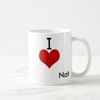 I Love (heart) Nat Basic White Mug