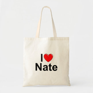 I Love (Heart) Nate Canvas Bags