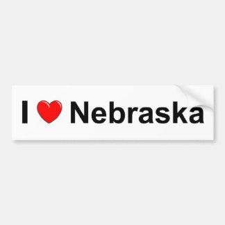 I Love (Heart) Nebraska Bumper Sticker