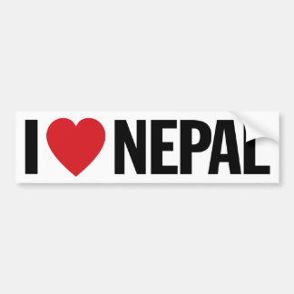 "I Love Heart Nepal 11"" 28cm Vinyl Decal"