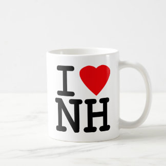 I Love Heart New Hampshire Coffee Mug