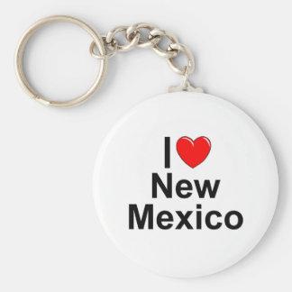 I Love (Heart) New Mexico Keychain