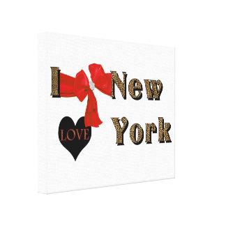I LOVE (heart) New York Leopard Canvas Print