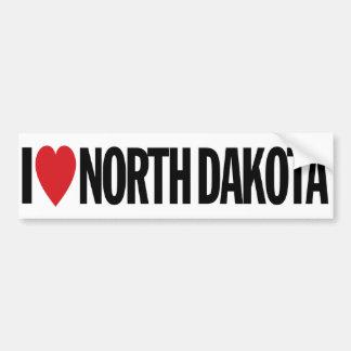 "I Love Heart North Dakota 11"" 28cm Vinyl Decal Car Bumper Sticker"