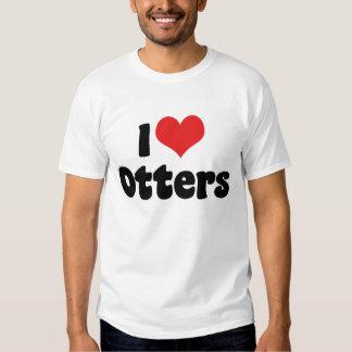 I Love Heart Otters Shirt