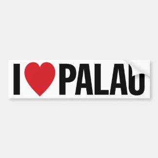 I Love Heart Palau Bumper Sticker