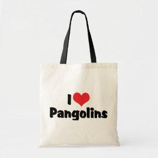 I Love Heart Pangolins - Pangolin Lover Budget Tote Bag
