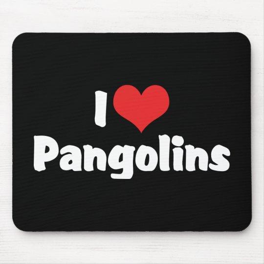 I Love Heart Pangolins - Pangolin Lover Mouse Mat
