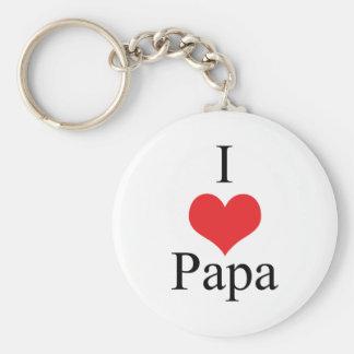 I Love (Heart) Papa Key Ring