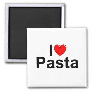 I Love (Heart) Pasta Square Magnet