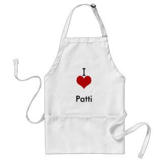 I Love (heart) Patti Adult Apron