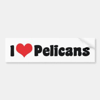 I Love Heart Pelicans - Pelican Lover Bumper Sticker