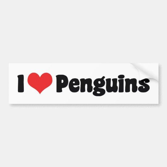 I Love Heart Penguins - Penguin Lover Bumper
