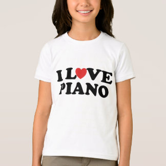 I Love Heart Piano Music Gifts T-Shirt