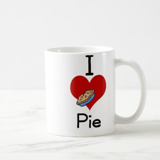 I love-heart pie coffee mugs