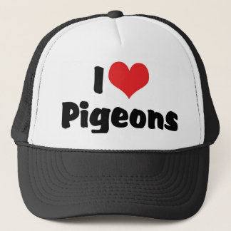 I Love Heart Pigeons - Bird Lover Trucker Hat
