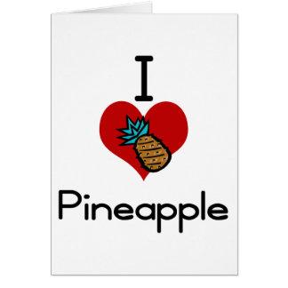 I love-heart pineapple card