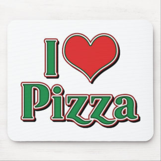 I Love Heart Pizza Mouse Mat