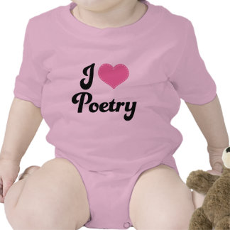 I Love (Heart) Poetry Tshirts