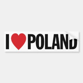 I Love Heart Poland Bumper Sticker