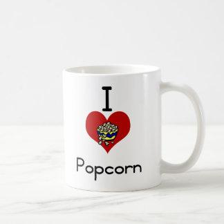 I love-heart  popcorn coffee mug