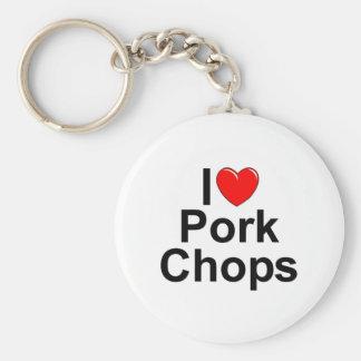 I Love (Heart) Pork Chops Key Chain
