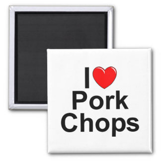 I Love (Heart) Pork Chops Magnet