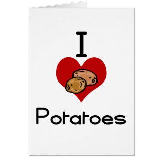 I love-heart potato greeting card