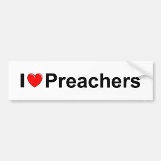 I Love Heart Preachers Bumper Stickers