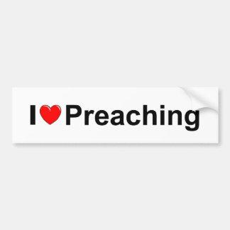 I Love Heart Preaching Bumper Stickers