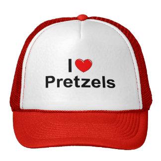 I Love (Heart) Pretzels Hats