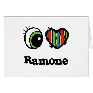 I Love (Heart) ramone Greeting Card