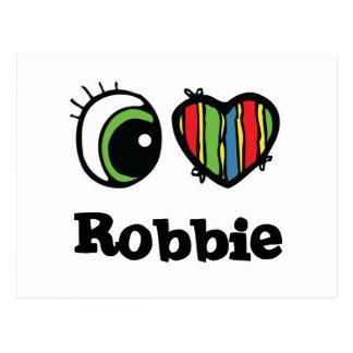 I Love (Heart) Robbie Postcard