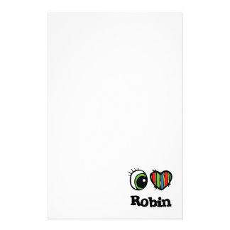 I Love (Heart) Robin Stationery
