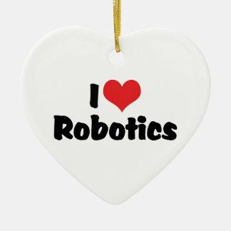 I Love Heart Robotics - Robot Lover Christmas Ornament