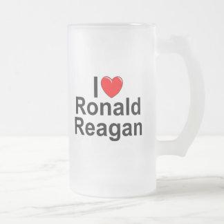 I Love (Heart) Ronald Reagan Frosted Glass Mug