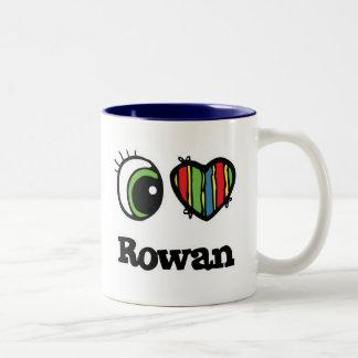 I Love (Heart) Rowan Two-Tone Mug