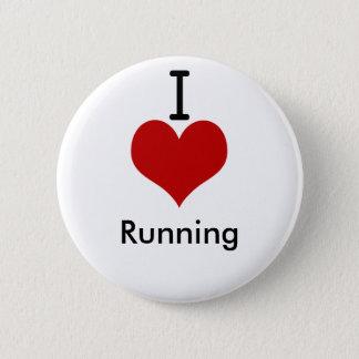 I Love (heart) Running 6 Cm Round Badge