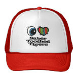 I Love (Heart) Sabre-toothed Tigers Mesh Hats