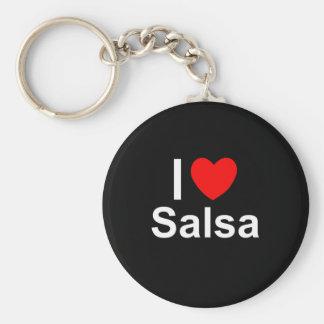 I Love Heart Salsa Key Ring