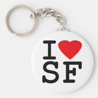 I Love Heart San Francisco Basic Round Button Key Ring
