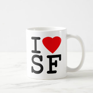 I Love Heart San Francisco Basic White Mug