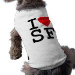 I Love Heart San Francisco Pet Shirt
