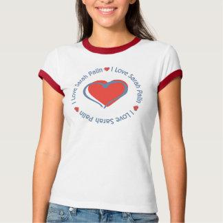 I Love Heart Sarah Palin T-Shirt