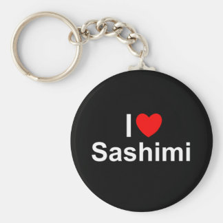 I Love (Heart) Sashimi Key Ring