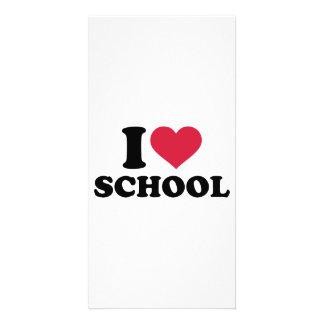 I love heart School Custom Photo Card