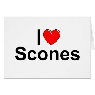 I Love (Heart) Scones Greeting Card