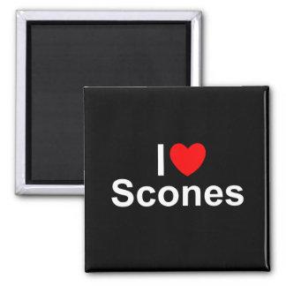 I Love (Heart) Scones Square Magnet