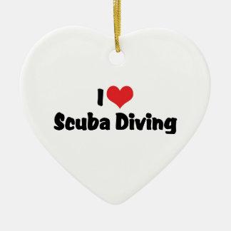 I Love heart Scuba Diving - Ocean Deap Sea Lover Christmas Ornament