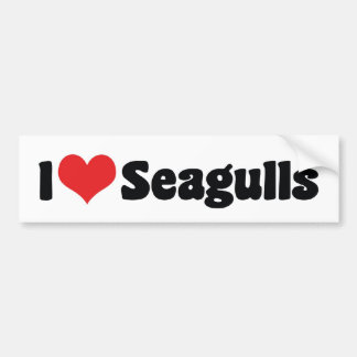 I Love Heart Seagulls - Bird Lover Bumper Sticker
